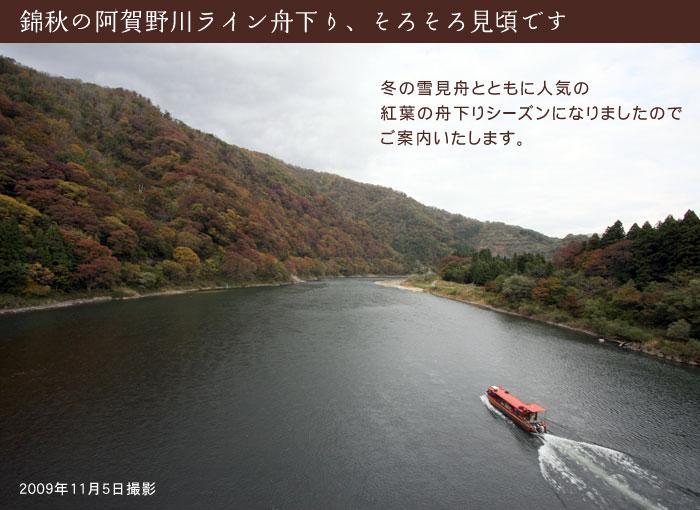 阿賀野 川 ライン 舟 下り