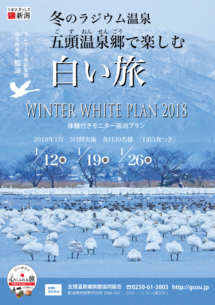 五頭温泉郷ホワイトプラン 白い旅