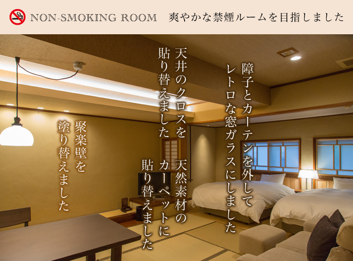 non-smoking room 禁煙室