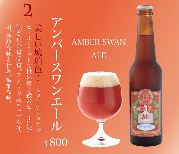スワンレイクビール SWANLAKE BEER アンバースワンエール